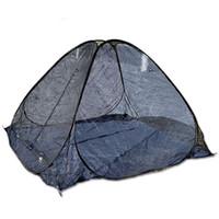 tienda de campaña ultraligera al por mayor-Ultraligero Verano Anti Mosquito Mesh Tent Mini Acampar Al Aire Libre Senderismo Tiendas de Malla Red Repelente Para La Playa Nocturna Uso Diseño 50ll ZZ