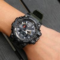 melhor relógio esportivo venda por atacado-Mens Sports Best Selling Moda Relógios LED 2019 de Verão ao ar livre Digtal Choque relógios de quartzo Mens Movimento Japão duplo visor do relógio analógico