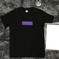 kamuflaj moda sporu toptan satış-Moda Yüksek Kalite Kutusu Logosu Yaz Moda Siyah Beyaz Kamuflaj T-shirt Erkek Kadın Spor Pamuk Beyaz Renk T Gömlek Casual Tee HFLSTX033