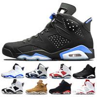cheap for discount 70376 87453 Nike air jordan 1 4 5 6 11 12 13 aj6 retro 6 Alta calidad 6 6s infrarrojos  Carmine zapatos de baloncesto hombres 6s UNC Toro liebre Oreo Maroon Low  Chrome ...