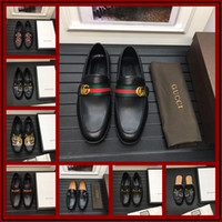 Wholesale mens autumn dress online - 2018 Italian Luxury Mens Loafers Leather Shoes Dress Wedding Casual Walk Shoes Office Work Made in Italy Shoes Tops Size