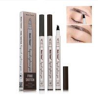 Wholesale drop ship music - STOCK New arrival MUSIC FLOWER makeup Waterproof Liquid eyebrow pencil 3 color high quality free shipping drop shipping DHL shipping