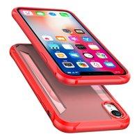 pc ip telefon großhandel-2019 für ip xs max case hybrid weiche tpu bumper pc rückseitige abdeckung telefon fällen für ip xr xs max brüche handy shell