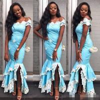 035837c753659 Wholesale beautiful maternity dresses short resale online - Beautiful Prom  Dresses Mermaid Evening Gowns White Lace