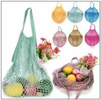 Wholesale turtle bags wholesale - Mesh Net Shopping Bags Fruits Vegetable Portable Foldable Cotton String Reusable Turtle Bags Tote for Kitchen Sundries CCA9849 200pcs