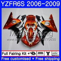 Wholesale 24 frames online - Body For YAMAHA YZF R6 S R S Light orange frame YZF600 YZFR6S HM YZF YZF R6S YZF R6S Fairings Kit