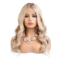 güzel uzun saçlı kadınlar toptan satış-Sıcak satış işlenmemiş ekonomik güzel bakire remy İnsan saç uzun # 613 doğal dalga tam ön dantel peruk beyaz kadınlar için ucuz