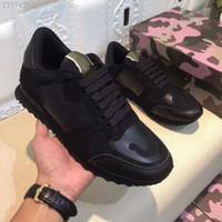 çeşitli ayakkabılar toptan satış-Rahat Ayakkabılar Mens Womens Lüks Tasarımcılar Sneakers Çeşitli Stilleri Erkek Konfor Rahat Ayakkabı Perçinler Kamuflaj Ayakkabı Rahat Tarzı