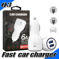 Wholesale fast cars uk - Fast Charging Q3 Car Charger Dual USB Ports Charging Adapter 3.1A Quick Charger Car Adapter For Universal Phones