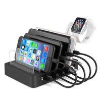 ipads achat en gros de-Station de recharge 6 ports Iphone Ipads Dock ou Stand