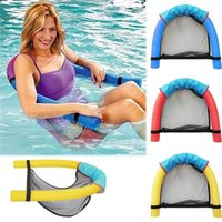 Wholesale balls pits online - 2018 Summer Amazing Noodle lounger Chair floating chair Ride ons water hammock Toy for Adult Pool Rafts Swimming Inflatable Toys