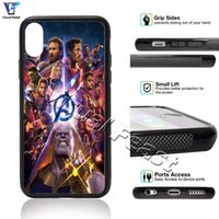 Wholesale Movies For Iphone - New Avengers Infinity War Movie Superheros Thanos Phone Case Cover For iX i8 i7 6 6s Plus 5s SE Cell Phone Case Cover Free Gift