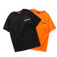 x erkekler giyim toptan satış-2018 Streetwear Dört Iki Dört 424 x MISBHV T Gömlek Kadın Erkek Temel Aşınma Pamuk T-Shirt Gül Baskı Kısa Kollu T Shirt tee