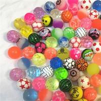 ingrosso giocattoli palla elastica-Bouncy Balls Printing Scrub gomma decompressione elasticità non tossica 32 MM palla elastica bambini misti Giocattoli Bouncing creativo 0 26cy V