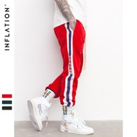 Wholesale cheap designer pants men - Mens Designer joggers INF Mens 2018 spring new retro school men's casual pants pants side striped HIP Hop pants Cheap Sale