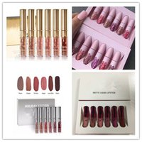 Wholesale Cosmetic Gift Sets Wholesale - Ho tK Cosmetics Matte Liquid Lipstick Set 6colors Lip Birthday Edition Holiday Valentine Limited 6pcs set DHL shipping+Gift