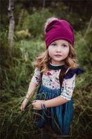 Wholesale Denim Braces - 0-5Years INS Baby girls floral rompers & kids denim suspenders dress Braces dresses pant 2 pieces a set free ship B11