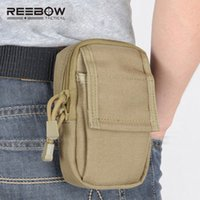 tactical molle pack 2018 - REEBOW Tactical Mini Running EDC Waist Pack Molle 1000D nylon Bags Accessories Small Outdoor Mobile Phone Waist Bag