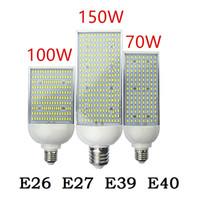 ampoule de maïs haute puissance achat en gros de-70W 100W 150W LED rue spot lumière E26 E27 E39 E40 économie d'énergie Haute énergie Ampoule De Maïs En Aluminium Lampe 110V 220V Lampada Lighting