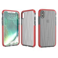 ingrosso caso di retro dell'onda di iphone-Custodia per cellulare IPhoneX 3D Wave Cover posteriore per cellulare TPU D3O Cover trasparente in cristallo trasparente per iPhone X