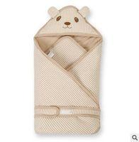 envoltura portátil para bebés al por mayor-Nuevo bebé Swaddle manta Wrap saco de dormir Thick Swaddle manta Baby Toddler Item Prevent Colds Free Shipping