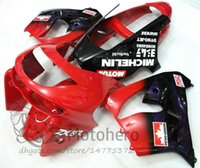 Wholesale 98 zx9r fairing red online - 3gifts ZX9R Fairings For KAWASAKI NINJA ZX9R ZX R high quality fairing kits red black painted