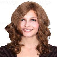 dalgalı insan saçlı dantel peruk toptan satış-Kabell peruk Açık renkli bukleler 150% Yoğunluk İnsan Saç Tam Dantel Peruk Dalgalı Ombre Renk Brezilyalı Kadınlar Için Uzun Saç Peruk ...