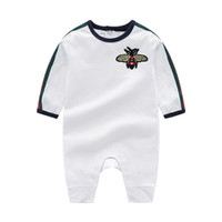Wholesale newborn size clothing online - Retail Round Neck Cotton Uniform Baby Clothing New Newborn Baby Boy Girl Romper Clothes Long Sleeve Infant Product Spring and Autumn Childre