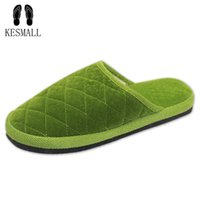 Wholesale girls hard soled shoes online - 7 Colors New Fashion Soft Sole Autumn Winter Warm Home Cotton Plush Slippers Women Indoor Floor Flat Shoes Girls Gift WS318