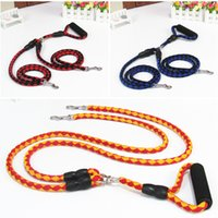 Wholesale large dog collars nylon for sale - Two Pet Traction Rope Anti Winding Nylon Multi Color Hauling Cable Braided For Enhance Feelings Trainning Dog Leashes Popular cx Y