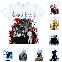 49b207565 Naruto Adolescent Ninja T Shirt Naruto Uzumaki Sasuke Uchiha Men Casual  TShirt Premium T-Shirt Printed Short Sleeve Shirts