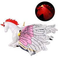 Wholesale wire horses resale online - Hover Pegasus Toys Unicorn LED Electric Supporting Wire Head Brighten Up Horse Call Voice Flying Children sc V