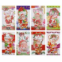 8pcs Xmas Blessing Gift Card Et Enveloppes Set Merry Christmas Carte De Voeux Vierge W 3d Père Noël Cadeau Pour Votre Bien Aimé