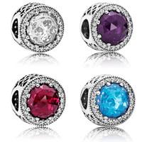 cuentas de agujero grande colores mezclados al por mayor-Crystal Rhinestone Beads Charms Spacers Beads 1.2 cm Big Hole Pulseras Collar Charm Beads mezcla colores joyería que hace accesorios