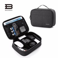 Wholesale Travel Bag For Cables - BAGSMART Double Layer Electronic Accessories Organizer, Travel Gear Bag for Cables, USB Flash Drive, Plug (black,blue,grey)