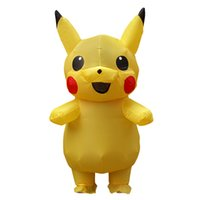 trajes de mascote para crianças venda por atacado-Dia da páscoa Vestido de Halloween traje da mascote Inflável Pikachu Adulto trajes Crianças Fancy Dress disfraces adultos Kid LJ-030