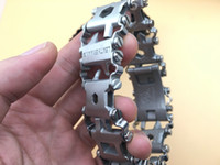Wholesale cycle tools - LeatherMan TREAD Followers Creative Fashion Tools Bracelet Bracelet Wearing Equipment Outdoor EDC cycling Outdoor living Tools M450