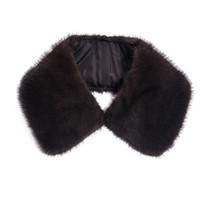 collares de piel real bufandas al por mayor-Real Mink Fur Men Collar Bufanda caliente de invierno para hombre Abrigo sólido recto desmontable Collar genuino real de piel Cuello C # 26