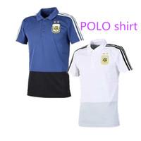 Thai quality 2018 Argentina POLO Shirt MESSI soccer jerseys 18 19 World Cup  DI MARIA DYBALA football shirts KUN AGUERO Polo training shirt f1a39b812