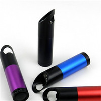 Wholesale bottle torch - 9LED Aluminium Alloy Torches Bottle Opener Small Flashlight 5 Colors Random Delivery Outdoor Lighting Tool 4 8py X