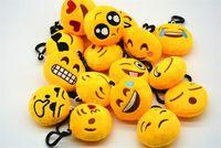 Wholesale key chains for boy face resale online - Emoji facial expression keychains cute Emoticon Amusing Key Chain Plush toys emoji keychain for unisex gift