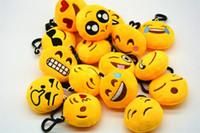 spielzeug amüsant plüsch großhandel-Emoji Gesichtsausdruck keychains niedliche Emoticon lustige Schlüsselkette Plüsch spielt emoji keychain für Unisexgeschenk