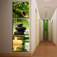 Wholesale bamboo wall panels - Modern Modular Painting 3 Panel Bamboo Landscape Posters Living Room Home Decoration Wall Artwork Pictures HD Printed On Canvas
