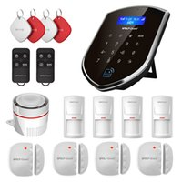 Wholesale Door Security - Wolf-Guard DIY 3G GSM WIFI Wireless Home Alarm Security Burgle System Door Sensor PIR Motion Detector Remote Control Kit