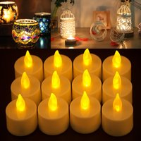 Wholesale White Wedding Pillar Candles - Led Tea Candles Mosaic Candlestick Flameless Tealight Battery Operated For Wedding Party Christmas Birthday Home Decor WX9-330