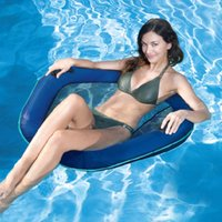 Wholesale Inflatable Toys For Women - Inflatable Outdoor Water Sprots Toys Mesh Seat Float Swimming Ring Pool Floating Raft Chair Bed Party Supply For Adults Women