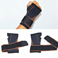 Wholesale wrist weights adjustable - Wrist Support Braces Adjustable Athletic Wrist Wrap Bracer for Weight Lifting Strength Training Carpal Tendonitis Wrist Pain Free DHL G447S