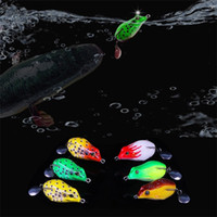 Wholesale freshwater frog lures for sale - Bionic Bait Frog Fishing Lures High Carbon Steel Double Hook Snakehead Frog Fake Soft Baits Equipment hz bb
