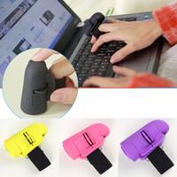 ingrosso mouse mouse dito ottico-5colors Mini USB Wireless Lazy Finger Rings 2,4 GHz USB Wireless Anelli di barretta Mouse ottico Mouse desktop portatile FFA589 30 PZ Articoli novità