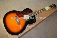 guitarras acústicas canhotas venda por atacado-Frete grátis novo atacado canhoto SJ200 Guitarra Acústica Do Vintage Sunburst Guitarra Acústica 6 cordas Guitarra